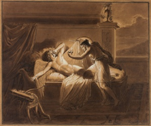 Giuseppe Cammarano Italian, 1766-1857 Cupid and Psyche, 1821