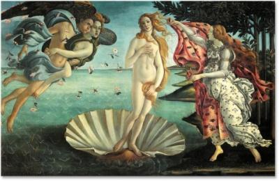 El Nacimiento de Venus de Botticelli en El Príncipe de Sylvain Reynard